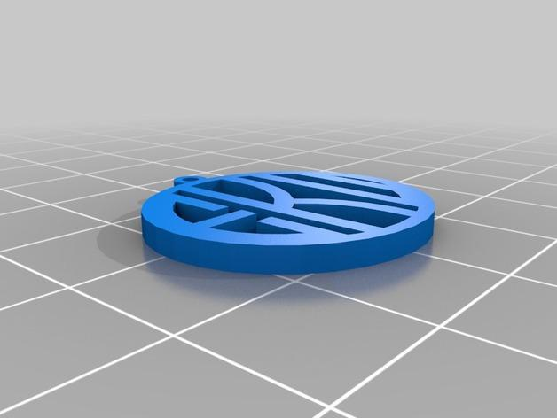 EKU字母吊饰 3D模型  图1
