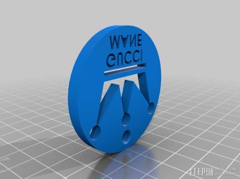 Gucci古驰 钥匙坠 3D模型  图1