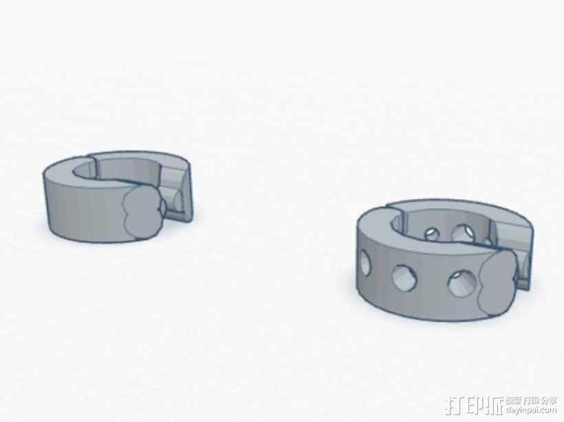 卡箍式耳环 3D模型  图1
