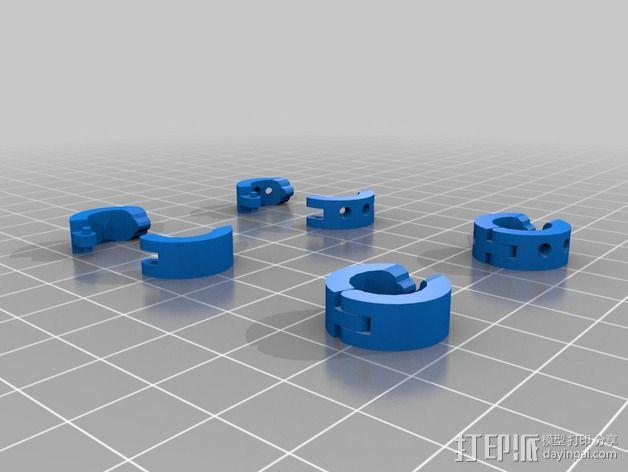 卡箍式耳环 3D模型  图2