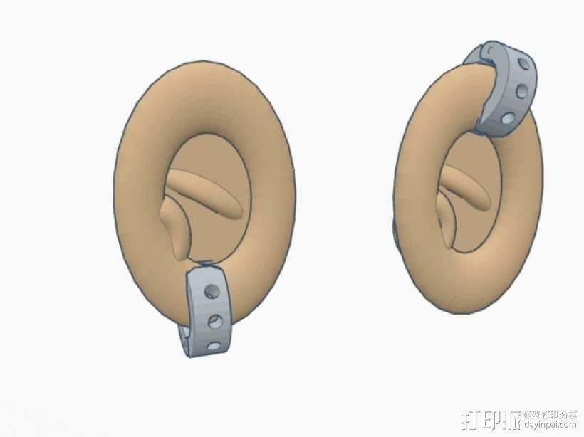 卡箍式耳环 3D模型  图7