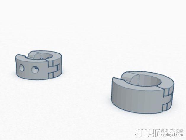 卡箍式耳环 3D模型  图5