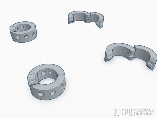 卡箍式耳环 3D模型  图4