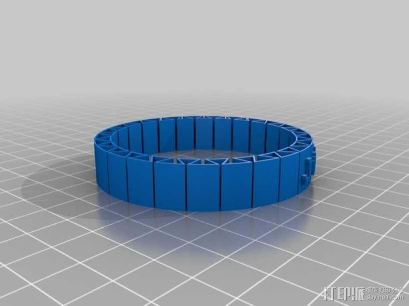 弹性 刻字手镯 3D模型  图1
