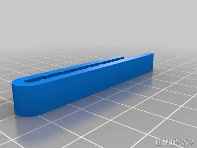 领带夹 3D模型  图1