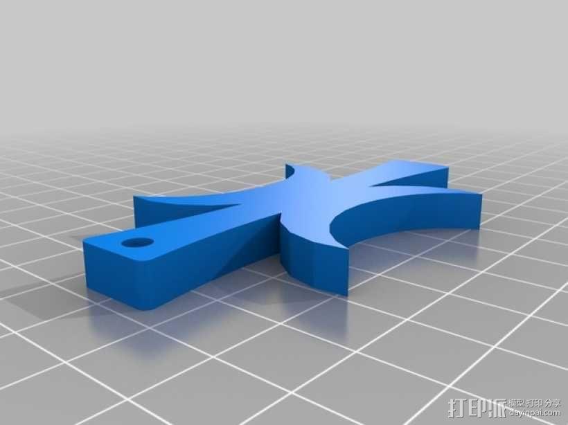 厄里斯护身符 吊坠 3D模型  图2