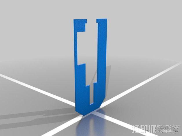 弹簧钥匙架  3D模型  图4