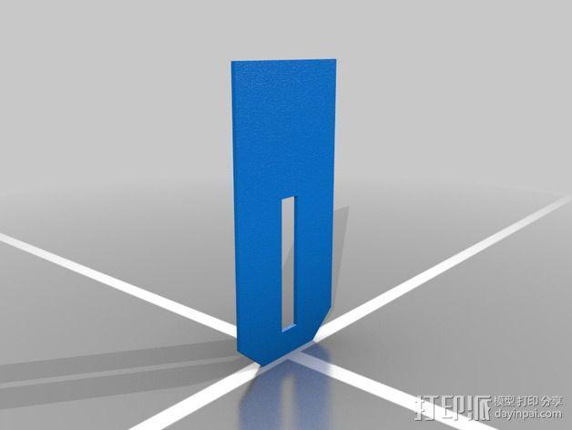 弹簧钥匙架  3D模型  图3