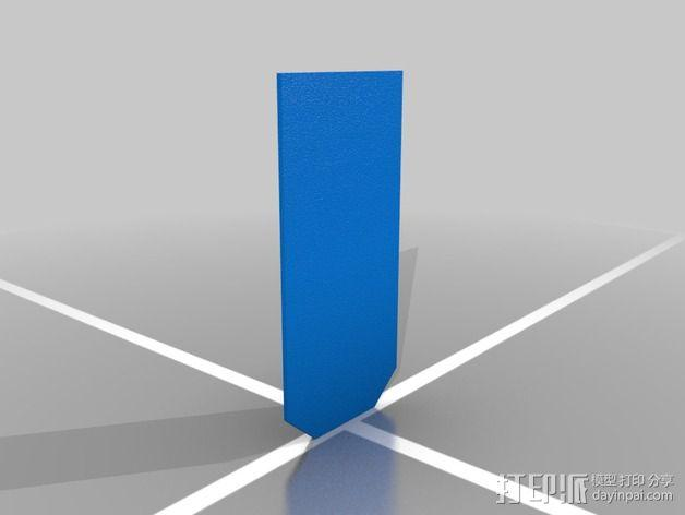 弹簧钥匙架  3D模型  图2