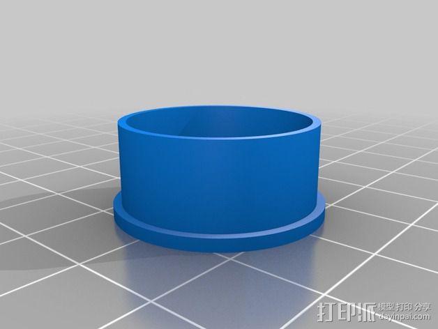 纺纱环 戒指 3D模型  图2