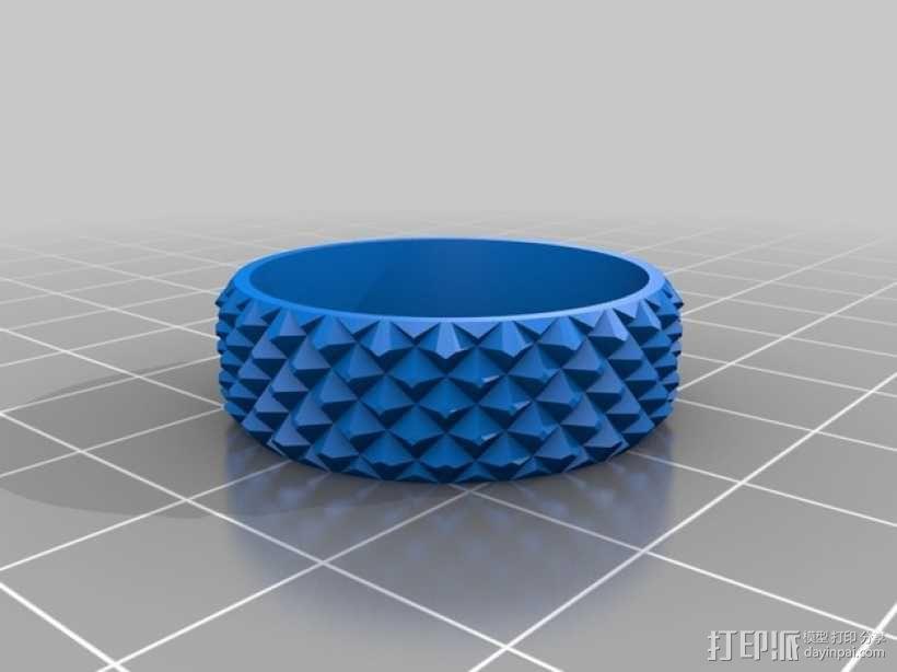 纺纱环 戒指 3D模型  图1