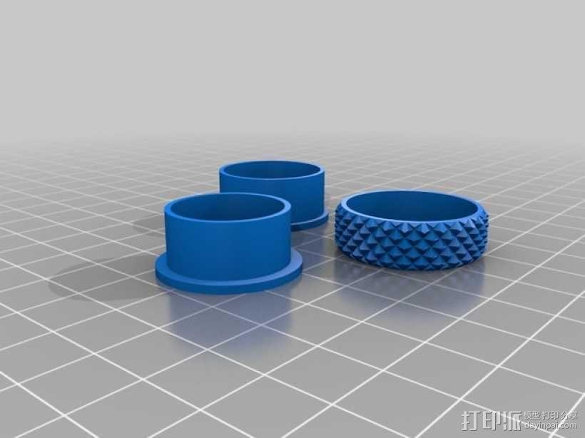 纺纱环 戒指 3D模型  图3