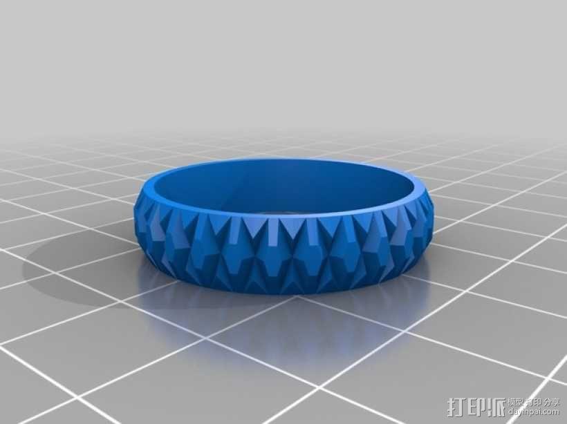 立体几何 戒指 3D模型  图1