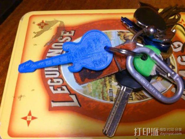 吉他 钥匙坠 3D模型  图4