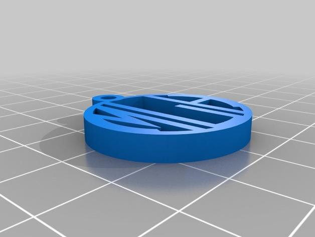 maria字母吊坠 3D模型  图1