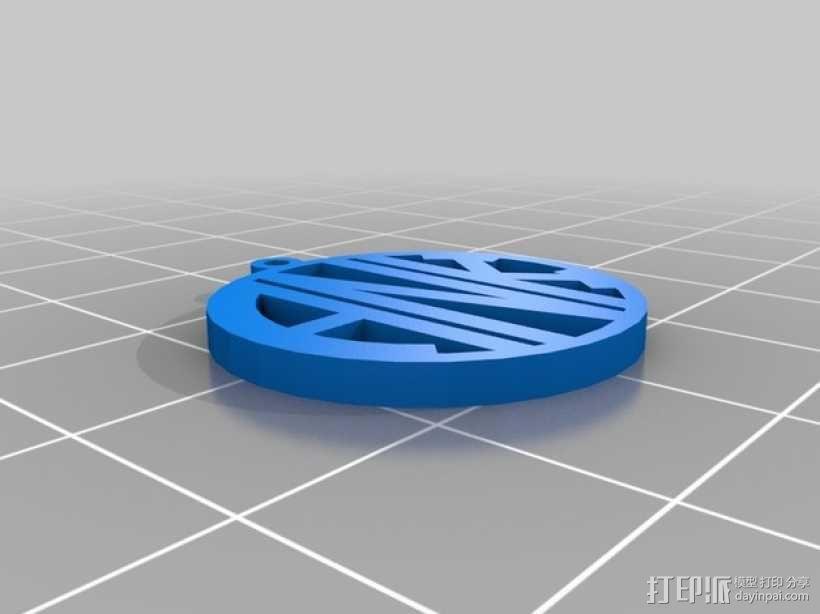 ANK 字母吊坠 3D模型  图1