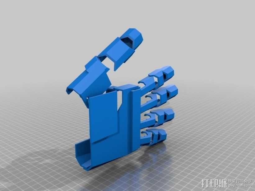 铠甲护手手套  3D模型  图1