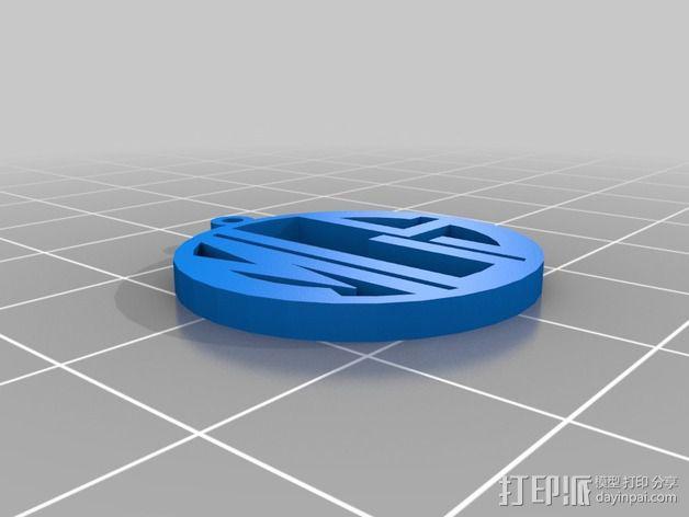 花式字母 吊坠 3D模型  图1