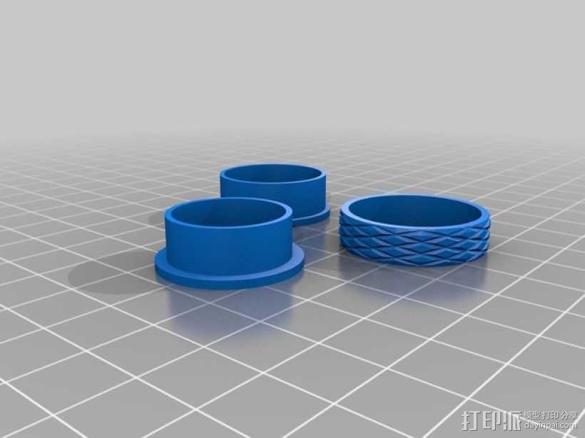 几何雕花 戒指 3D模型  图1