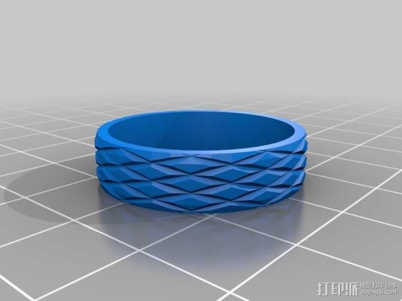 几何雕花 戒指 3D模型  图2