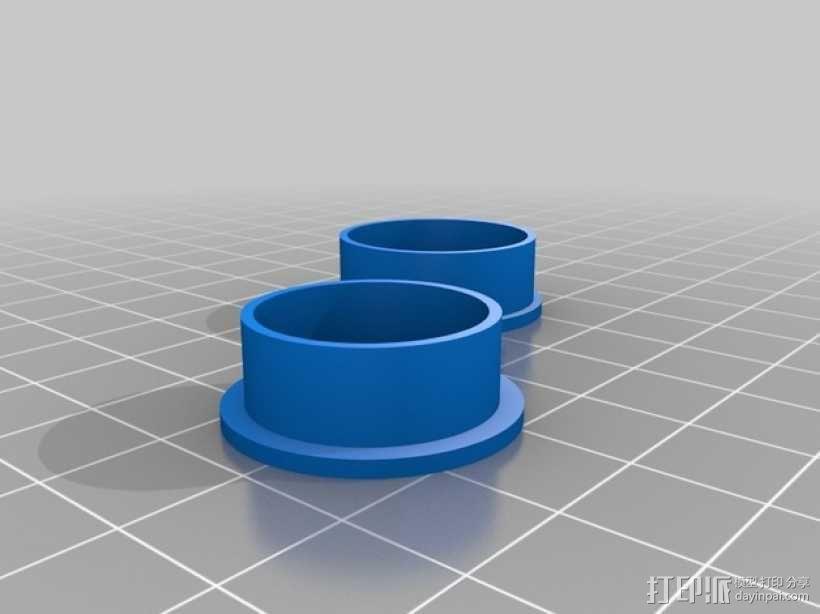 几何雕花 戒指 3D模型  图3