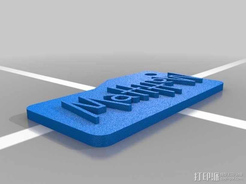 Matthew字母钥匙坠 3D模型  图1
