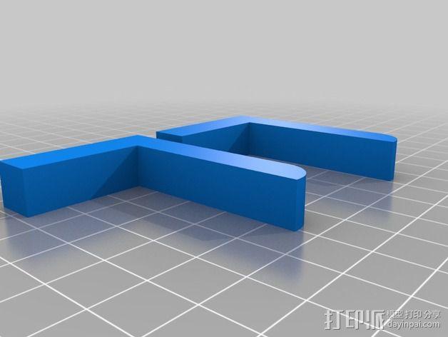 婴儿车杯架 杯托 杯座 3D模型  图3