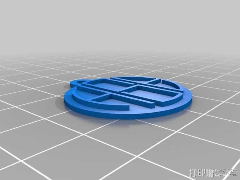 花式字母吊坠 3D模型  图1