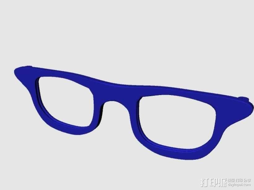CALGARA HOND眼镜 3D模型  图1
