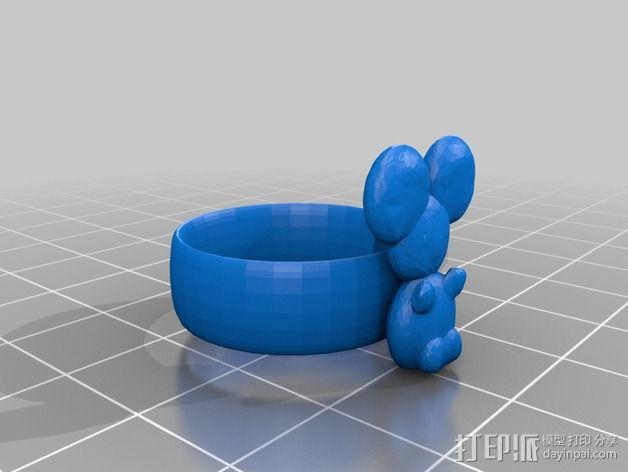 考拉戒指 3D模型  图2