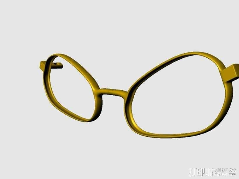 BEE CALGARA眼镜 3D模型  图1