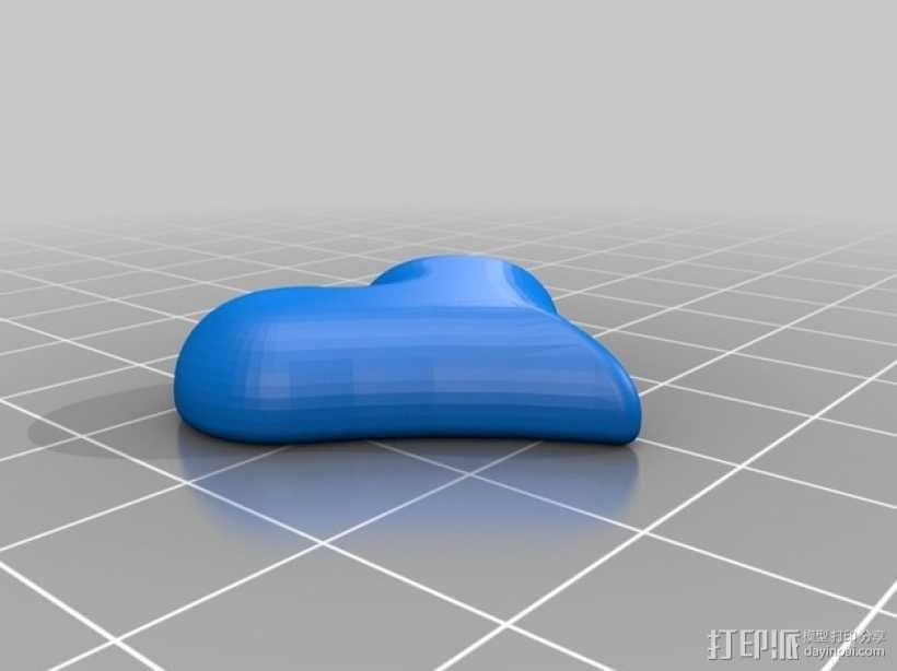 心形吊饰 3D模型  图1
