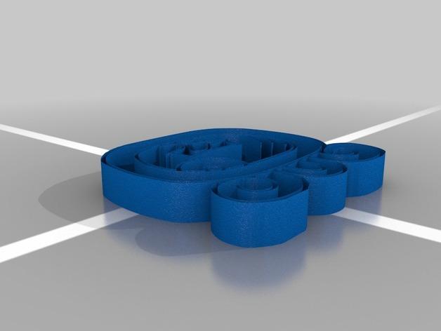 Kej Nahual标志吊坠 3D模型  图2