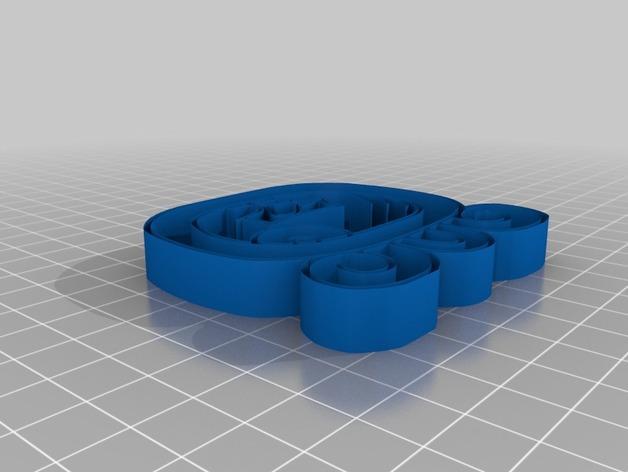 Kej Nahual标志吊坠 3D模型  图3