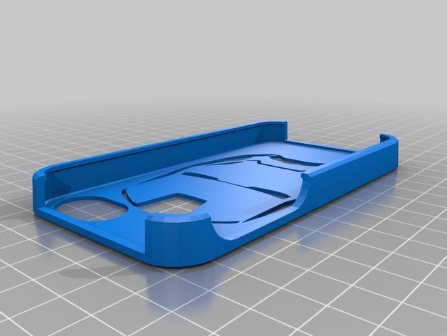 钢铁侠iphone 4/4s手机套 3D模型  图1