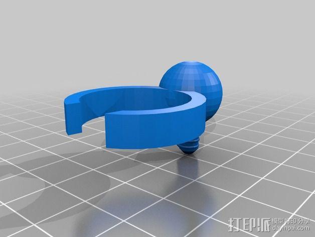 电灯圈 3D模型  图1