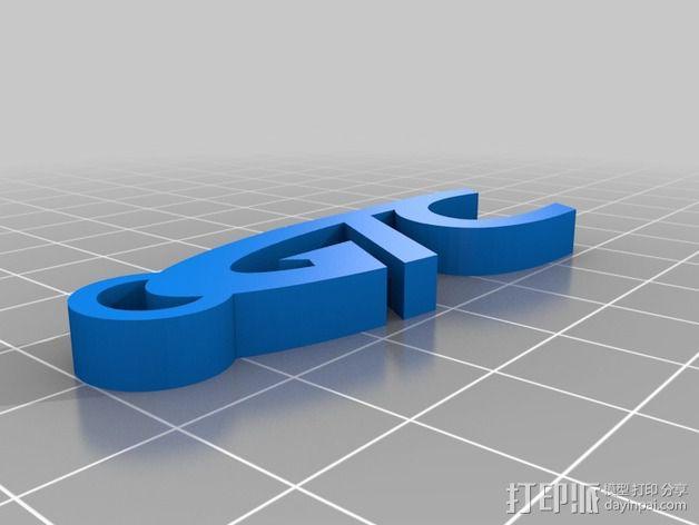 GTC 字母吊坠 3D模型  图2
