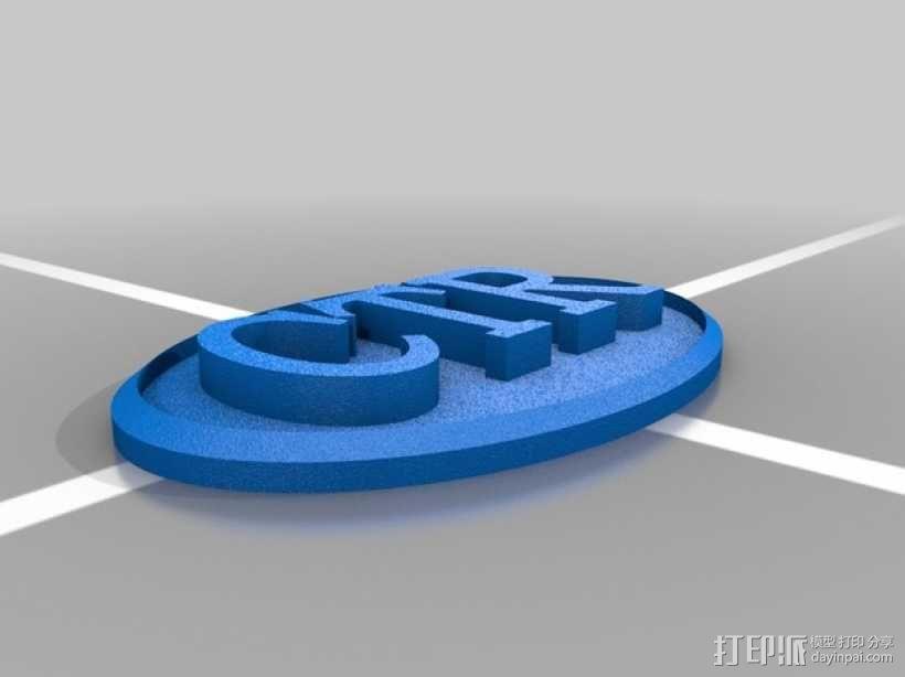 Ctr领带别针 3D模型  图1