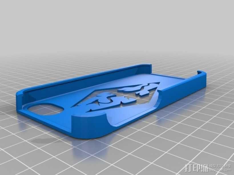 上古卷轴Iphone 5/5s手机套 3D模型  图1