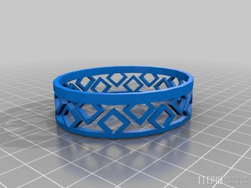 几何图形 手镯 3D模型  图1