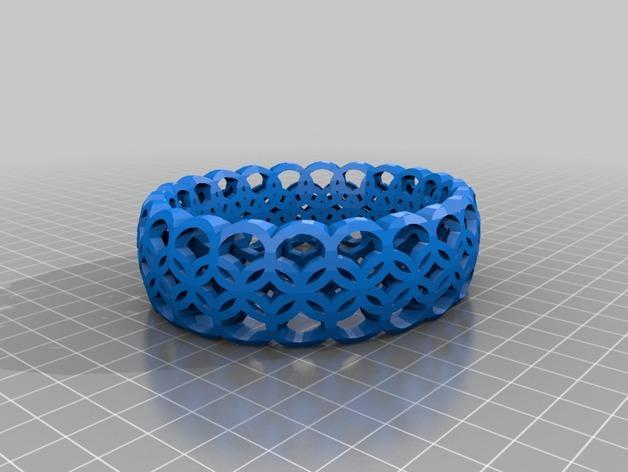 Megan Dmitrenko几何图案手镯 3D模型  图1