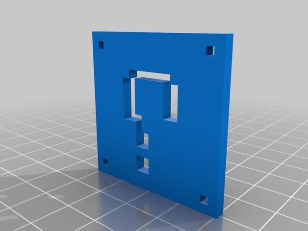 像素图形吊坠 3D模型  图1