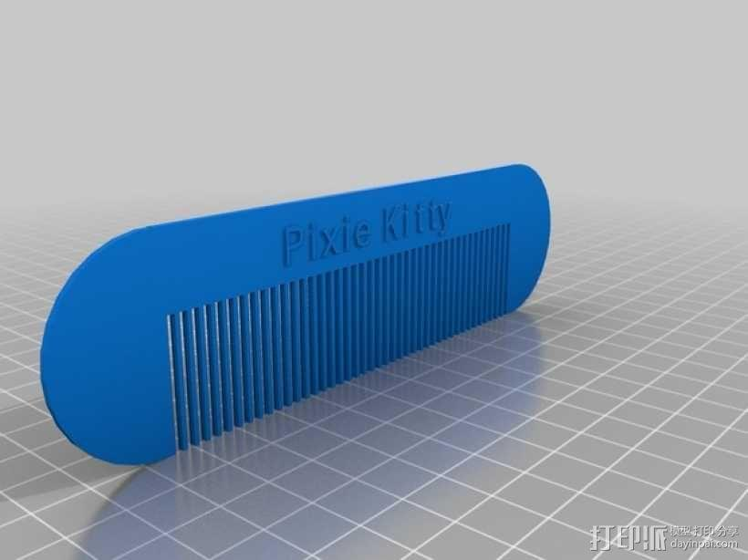 PixieKitty梳子 3D模型  图1