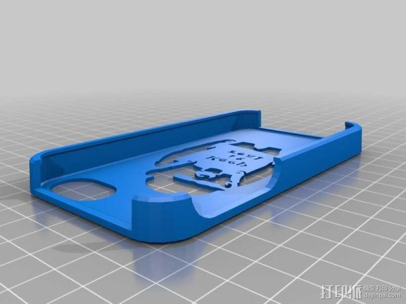 keep it real乐队标志 手机套 3D模型  图1