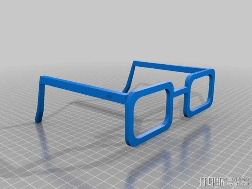 CHARGERS眼镜 3D模型  图1