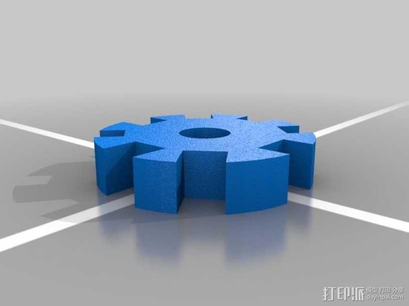 齿轮卷线器 3D模型  图1