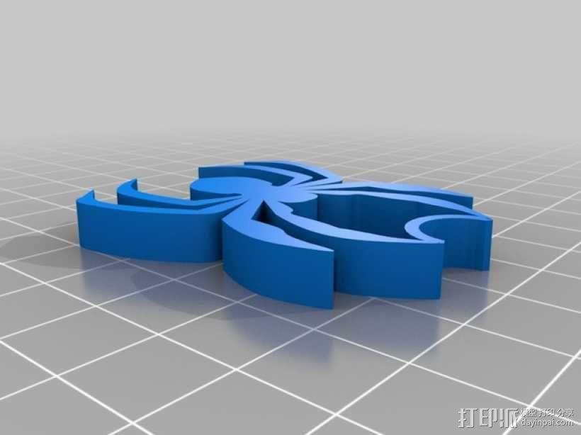 蜘蛛 项链坠 3D模型  图2