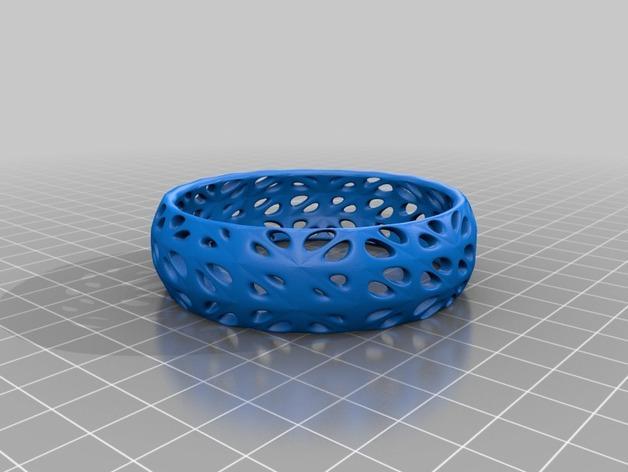 孔型结构手镯 3D模型  图2