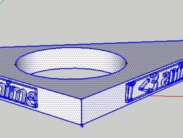 三角形 指节环 3D模型  图2