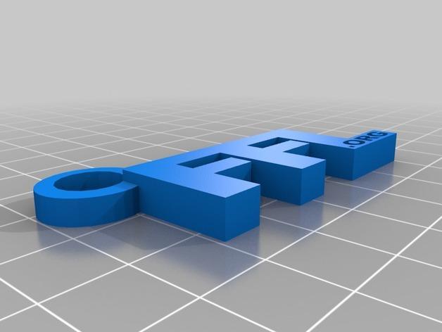 FFL字母钥匙坠 3D模型  图1